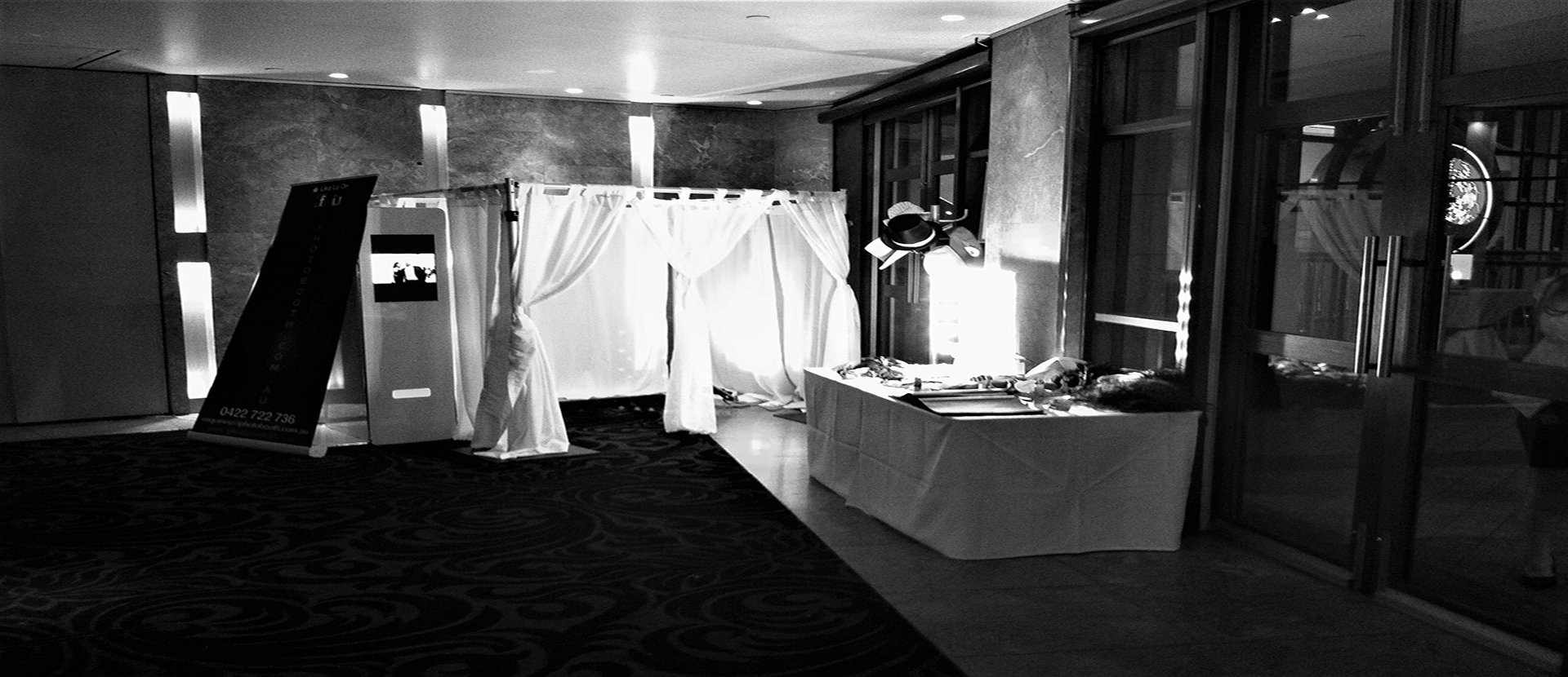 setup for an open photo booth in Sydney.