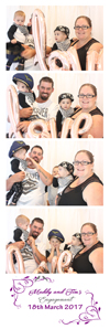 family picture time in a curtain photo booth in Sydney.